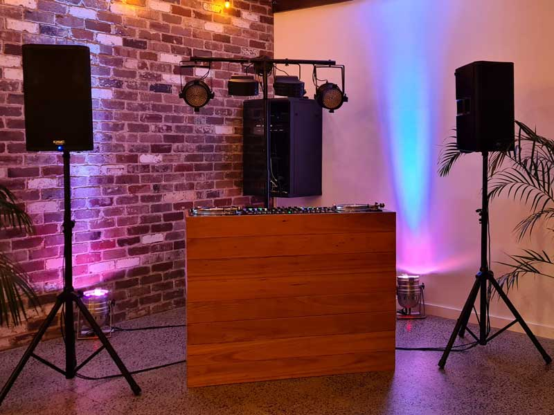 Custom DJ Table Christo Events